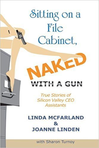 sitting-on-a-file-cabinet-naked-with-a-gun-linda-mcfarland-joanne-linden