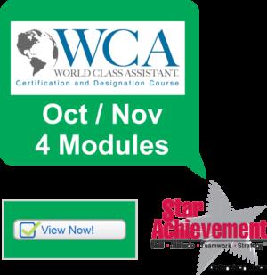 World Class Assistant® 4 Module Virtual Course