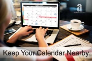 Calendar Joanne_Linden AdminUniverse