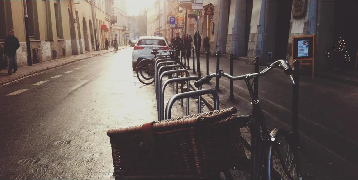 bikes-on-a-street