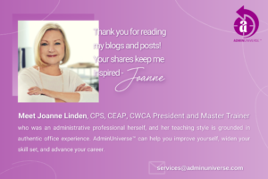 Meet Joanne Linden, CPS, CEAP, CWCA President and Master Trainer